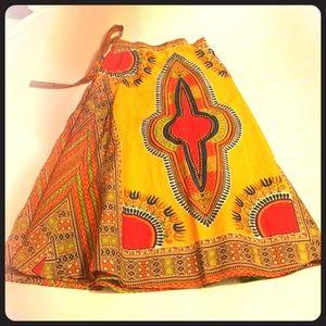 Tribal Print wrap skirt
